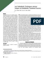 Comparison of Classic Endodontic Techniques versus  Contemporary Techniques on Endodontic Treatment Success. Chris H. Fleming, DMD,* Mark S. Litaker, PhD,† Larry W. Alley, DMD,*  and Paul D. Eleazer, DDS, MS*
