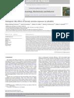 Stewart Anxiogenic Like Effects of Chronic Nicotine Exposure in Zebrafish