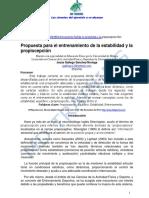 Propiocepcion y Estabilidad Ef Dptes 2013