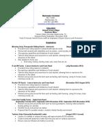 machaela christian resume