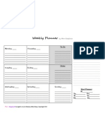 MS Weekly Planner Blk&Wh