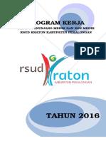 Program Kerja Penunjang 2016
