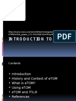 Week 11 Introduction to Etom