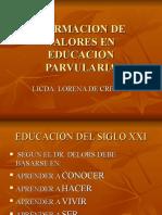 FORMACION DE VALORES EN EDUCACION PARVULARIA.ppt