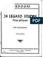 Bordogni - 24 Legato Studies (Vocalises) - For Trombone - Keith Brown