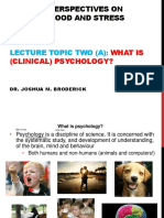 2-A-what is (Clinical) Psychology