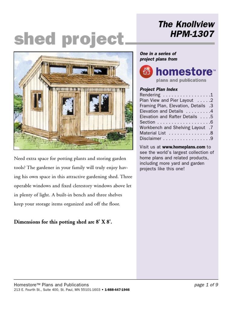 Sheds PDF | Framing (Construction) | Manmade Materials