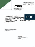 D-017 Calidad en Transporte de Gas