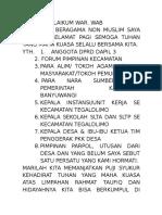 Sambutan ketua panitia Musyawarah Perencanaan Pembangunan pada SKPD Kecamatan Tegaldlimo Kabupaten Banyuwangi