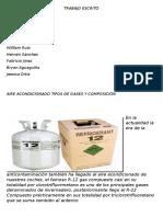 Tipos de Gases del Aire Acondicionado delAutomovil