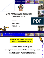 Akta 221 - AKta Pertahanan Awam 1951 (2)