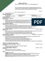 general resume ahmed f