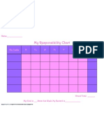My Responsibility Chart Purple&Pink