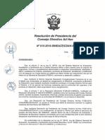 Resolución N°015-2016-SINEACE-CDAH-P