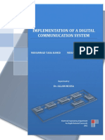Implementation of a Digital Communucation System A