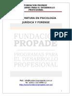 Diplomatura en Psicología Juridica.- Info Completa. Año 2014