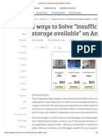 5 Ways to Solve _insufficient Storage Available_ on Android
