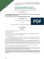 Código de Procedimientos Civiles para Baja California Sur, México