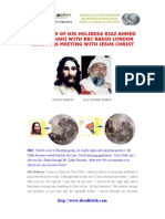 Jesus meets His Holiness Riaz Ahmed Gohar Shahi in USA