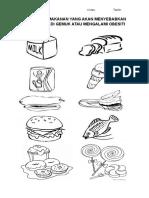 Warnakan Makanan Yang Akan Menyebabkan Anda Menjadi Gemuk Atau Mengalami Obesiti