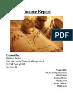 Finance Report on EPS analysis