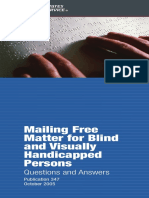 04  mailing free matter for the blind and visually handicapped persons pub347