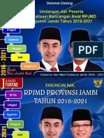 Rancangan Awal RPJMD Provinsi Jambi 2016-2021