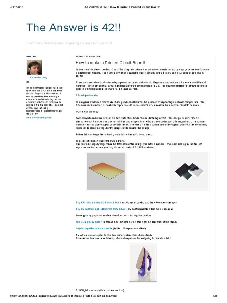 Fabricate Pcb Etching Printed Circuit Board Bungardfr4coppercladprintedcircuitboard