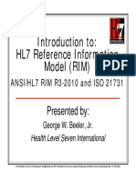 HL7 Reference Information Model
