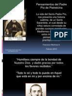 Reflexiones del Santo Padre Pío