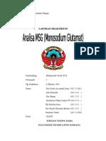 Analisa MSG (Monosodium Glutamat)