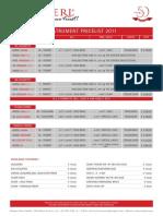 Schagerl Rotary Pricelist 2011