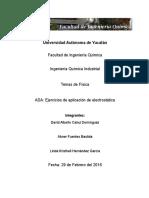 Ejercicios de Aplicación de Potencial Eléctrico.