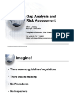Gap Analysis & Risk Assessment