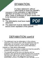 Defamation 1
