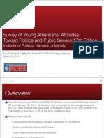 00 Harvard University Survey of Young Americans' Attitudes Towards Politics