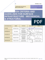 Design Criteria and Guidelines for Surface Infrastructure Mechanical and Structural