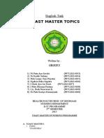 1. Toast Master of Nursing Programme