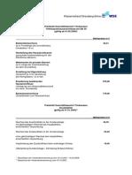 Preisblatt Anschlusskosten Trinkwasser