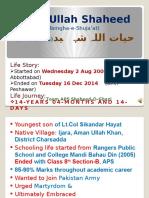 Hayat Ullah Shaheed (Tamgha-e-Shuja'at)