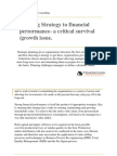 STRATEGY AND FINANCE
