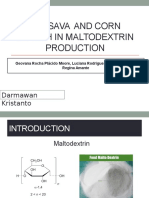 Cassava and Corn Starch in Maltodextrin Production