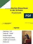 Studentisches Brauchtum in der Schweiz - Projektstudie
