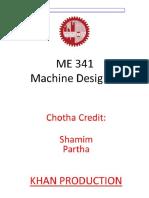 Machine Design 1 ( MD 341)