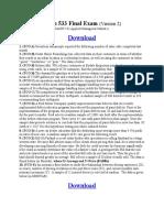 Math 533 Final Exam (Version 2)