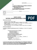 Examen Prueba Acceso Lengua