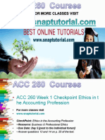 ACC 260 Academic Success/snaptutorial