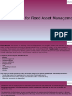ERP Solution for Fixed Asset Management