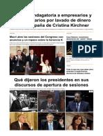 2016-03-01 - Citaron a Indagatoria a Empresarios y Ex Funcionarios Por Lavado de Dinero en La Campaña de Cristina Kirchner - Infobae