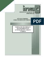 Normas de Seguridad y Mantenimiento en Actividades Con Cables y Cuerdas (Tuav 281)